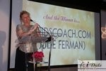 Julie Ferman (Cupid's Coach) Winner of Best Matchmaker at the January 28, 2010 Internet Dating Industry Awards in Miami