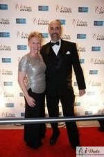 Julie Ferman (Cupid's Coach) and Paul Falzone (eLove) at the 2010 Miami iDate Awards