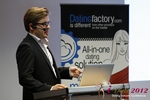 Florian Braunschweig (CTO of Lovoo) at the 2012 Germany European Union Mobile and Internet Dating Summit and Convention