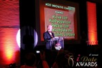 Sam Moorcroft announcing the Most Innovative Company at the January 17, 2013 Internet Dating Industry Awards Ceremony in Las Vegas