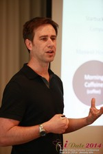 Author Neal Cabage Of The Smarter Startup at the 38th iDate2014 Beverly Hills