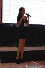 Rosalie Sutherland Of AnastasiaDate Speaking On Mobile Dating Conversions  at the 38th iDate2014 Los Angeles
