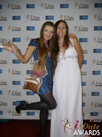 Svetlana Mucha and Elena Kolyasnikova at the 2015 iDateAwards Ceremony in Las Vegas