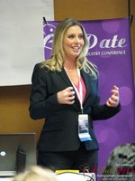 Author Laurel House - Speaking on Womens Empowerment and Online Dating at the 12th Annual iDate Super Conference
