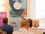 Gloria Diez Business Development From Wamba Speaking at the 12th Annual United Kingdom & European Union iDate Mobile Dating Business Executive Convention and Trade Show