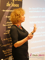 Mary Balfour CEO And Managing Director Of Drawing Down The Moon  at the United Kingdom & European Union iDate conference and expo for matchmakers and online dating professionals in 2015