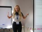 Julia Lanske at the 49th International Romance Industry Conference in Misnk, Belarus
