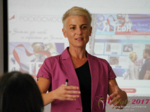 Olga Korsakova at the July 19-21, 2017 Premium International Dating Industry Conference in Belarus